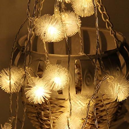 10M Indoor Snow Ball Fairy USB String Light Wedding Christmas Party Room Decor