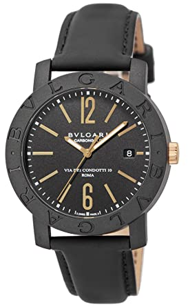 amazon com bvlgari watch carbon gold automatic bbp40bcgld men bvlgari watch carbon gold automatic bbp40bcgld men
