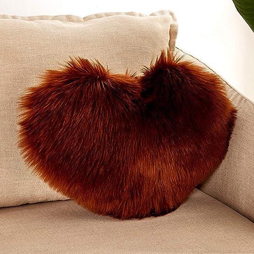 Almohada de Pelo sintético Mullido, Pelo de Felpa, 40 x 50 ...