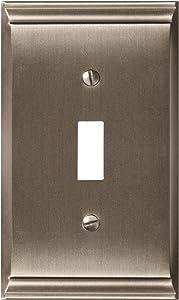 Amerock BP36500G10 Candler 1 Toggle Wall Plate - Satin Nickel