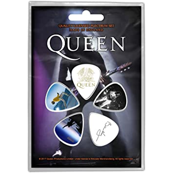 Queen Freddie Mercury Brian May Púas de guitarra oficiales: Amazon ...