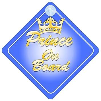 Amazon.com: Corona Prince On Board señal de coche nuevo bebé ...