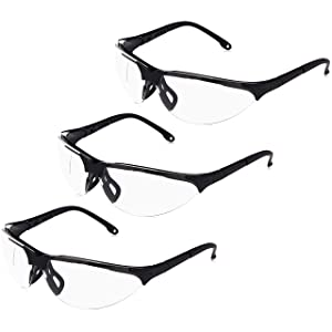 AmazonBasics Anti-Fog Shooting Safety Glasses Eye Protection, Clear Lens, 3-Count
