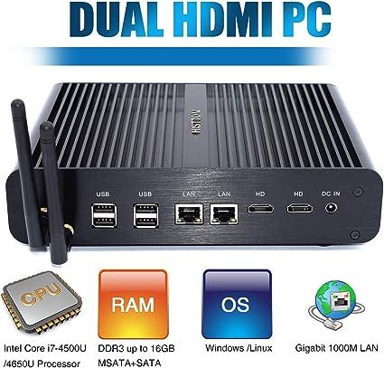 HISTTON Mini PC Intel Core i7-4500U Processor, DIY SSD, DDR3 RAM ...