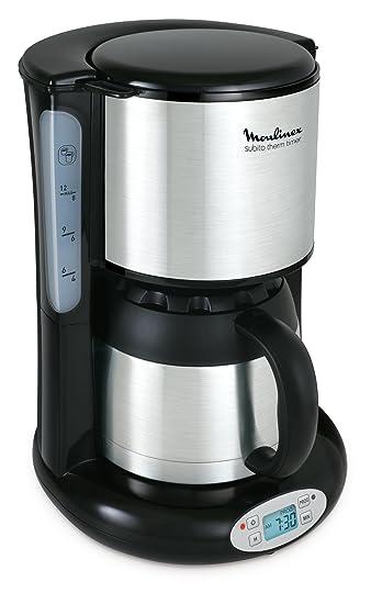 Moulinex FT3628 Thermo Digitaler Timer Kaffeemaschine Subito, 4 Programme,  Isolierkanne, 0,