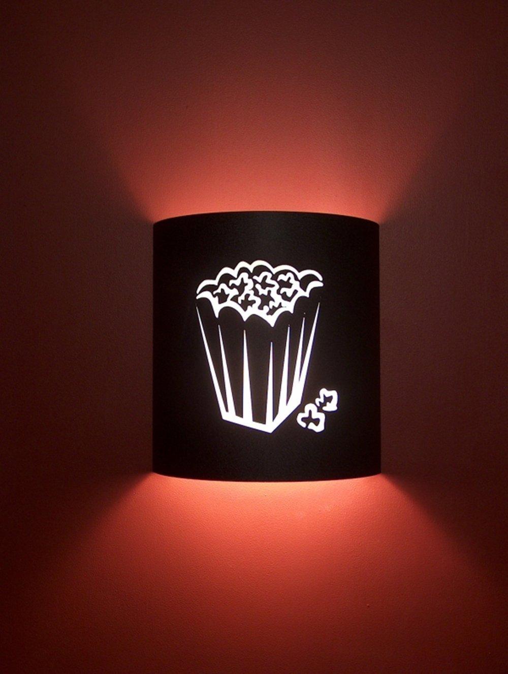 Popcorn Black Home Movie Theater Sconces