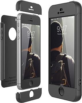 CE-Link Funda para Apple iPhone 5 5S Se Rigida 360 Grados Integral ...
