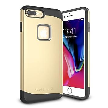 Snugg Funda iPhone 7 Plus, Apple iPhone 7 Plus Case Slim Carcasa de Doble Capa [Infinity Series] Revestimiento con Protección Anti-Golpes – Oro