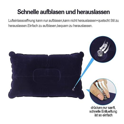 Intex Camping-velour-kissen Reisekissen Sitzkissen Campingkissen Kopfkissen Schlafausrüstung