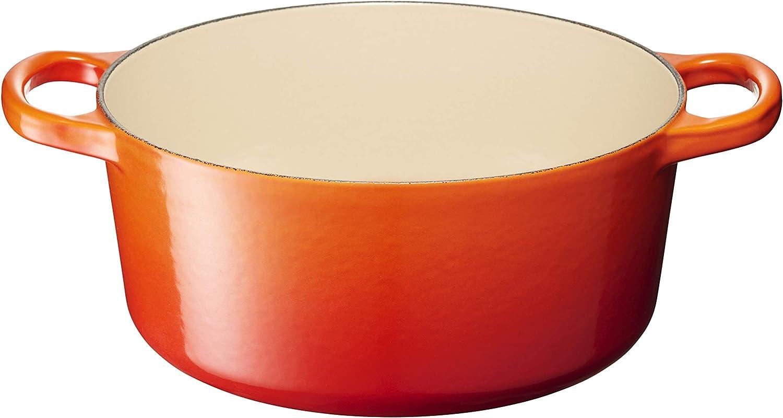 Le Creuset Enameled Cast Iron Signature Round Dutch Oven, 4.5 qt., Flame