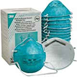 Surgical Mask 3M 1860 N95 Health Care Particulate Respirator Nose and Mouth Face Mask Box of 20 Regular Adult Size for Doctors, Nurses, Patients, and Anyone Wanting Protection from Germs, Viruses, Infections, the Flu, and Solid or Liquid Aerosols.
