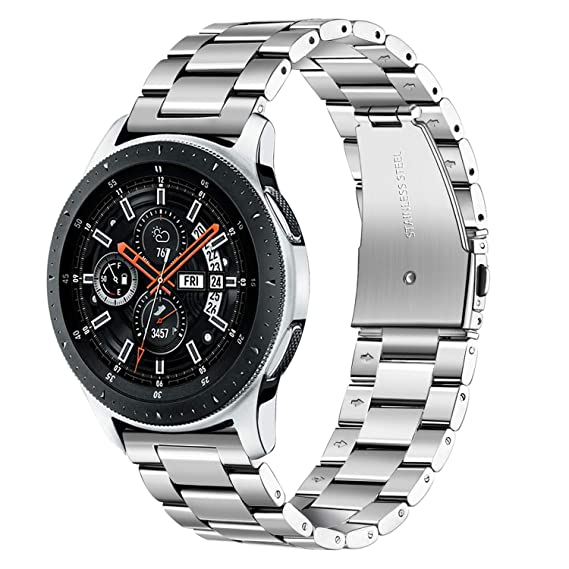 for Galaxy Watch 46mm / Gear S3 Bands, TRUMiRR 22mm Quick Release Watchband Solid Metal Stainless Steel Strap Replacement Bracelet for Samsung Galaxy ...