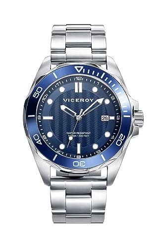 Viceroy Reloj Analógico para Hombre de Cuarzo con Correa en Acero Inoxidable 471163-37: Amazon.es: Relojes