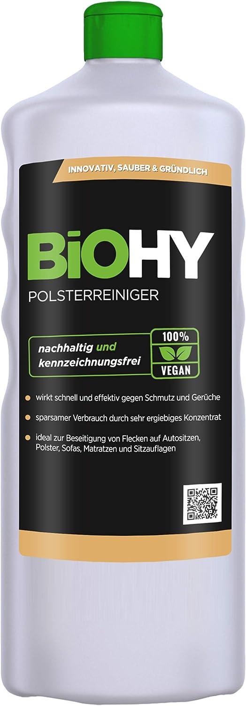 BIOHY Spezial Polsterreiniger 1 Liter Flasche   Ideal für Autositze - Stoffsofa reinigen