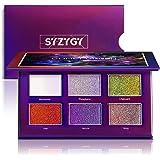 SYZYGY Palette Ombretti, Duochrome Ombretto, Cosmetico Bicolore Metallico+Brillantini+Glitterati Eyeshadow Palette, 6 colori