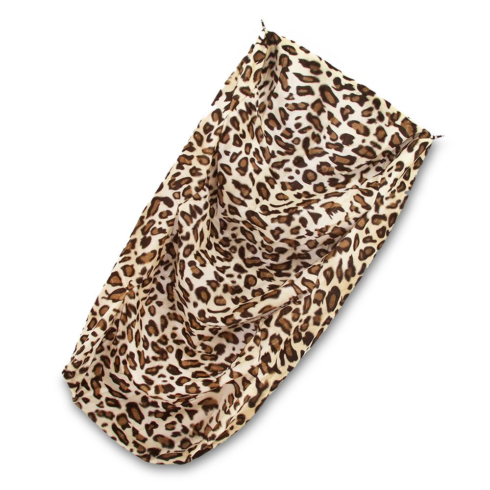 """SUEDE COVER for 4-Step Doggie Stairs for Small Dogs Cats- Fits Best Pet Supplies (24"""" x 15"""" x 19"""") Foam Pet Steps- Machine Washable Covers- Anti Slip Base- Ultra Plush Supplies for Dog Furniture (Animal Print)"""