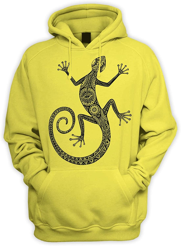 Tribal T-Shirts Tribal Lizard Tattoo Mens Pouch Pocket Hoodie Hooded Sweatshirt