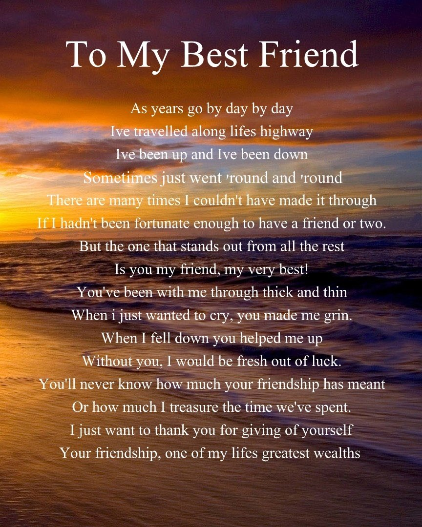 Best Christmas Present For My Wife Part - 39: Personalised To My Best Friend Poem Mothers Day Birthday Christmas  Anniversary Husband Wife Boyfriend Girlfriend Present