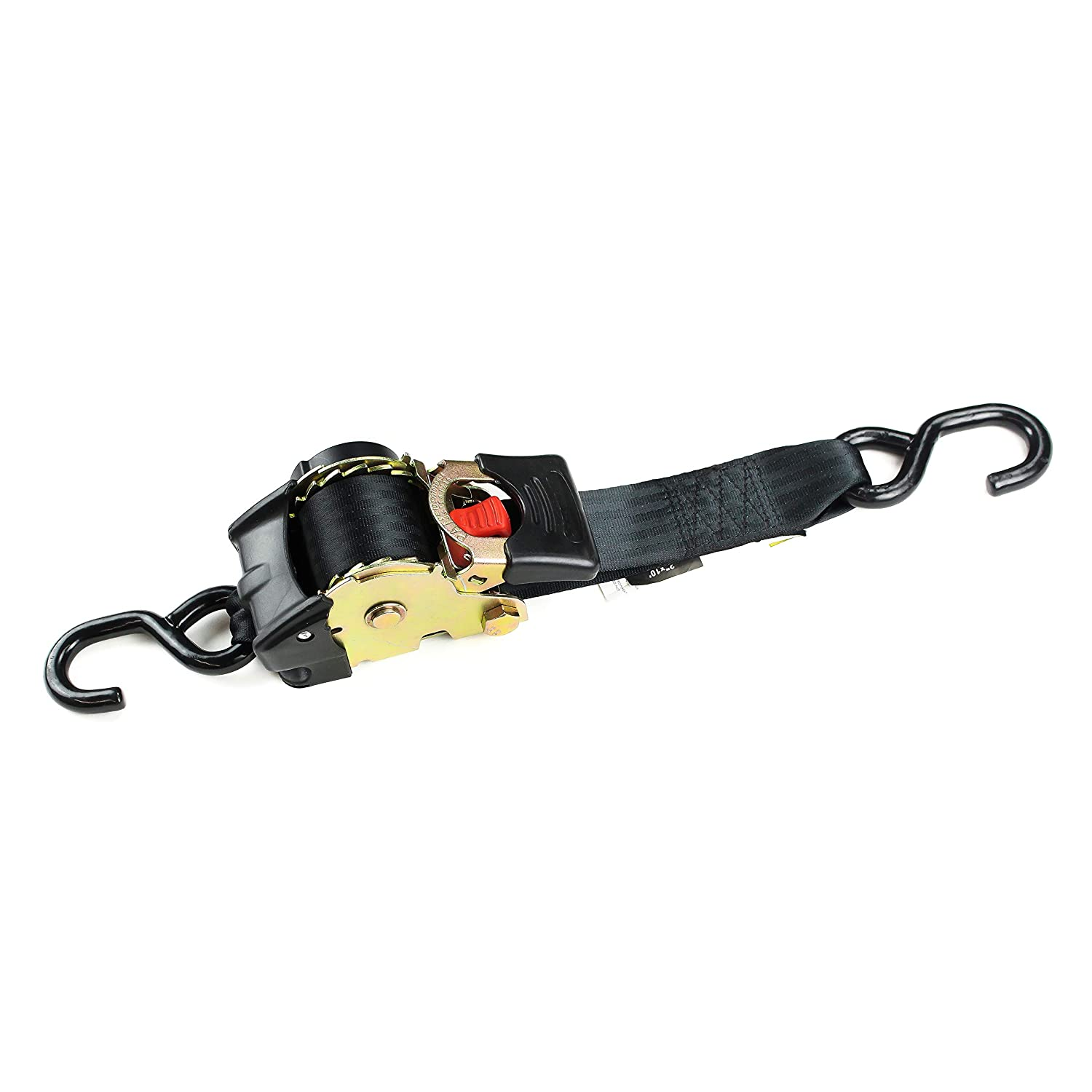Bikes: Tight /& Secure Pickup Trailer Tie-Down DC Cargo Mall 1 x 10 SELF-CONTAINED Compact Cargo Strap Tiedowns for Motorcycles 2 Auto Retract NO-RATCHETING Ratchet Straps w//Soft Loop ATVs
