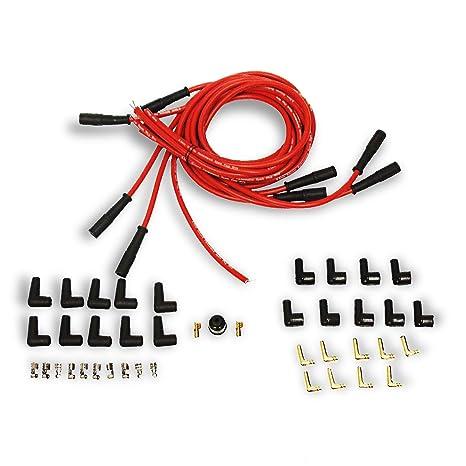 Superb Amazon Com 9 5 Mm Red Straight Spark Plug Wires Distributor Hei For Wiring Cloud Xeiraioscosaoduqqnet