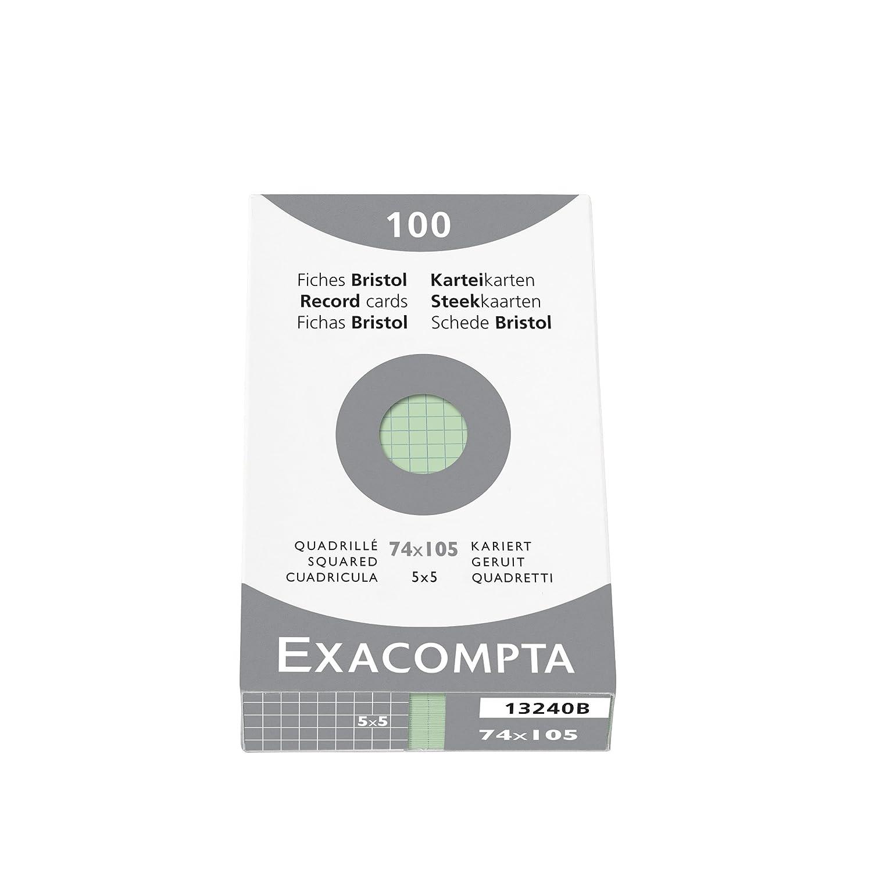 Exacompta Exacom Cards A4 Blank White - Estuche de 100 fichas cartulina, 210 x 297 mm, color blanco 13306E