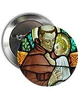 """CafePress - St Anthony - 2.25"""" Button"""