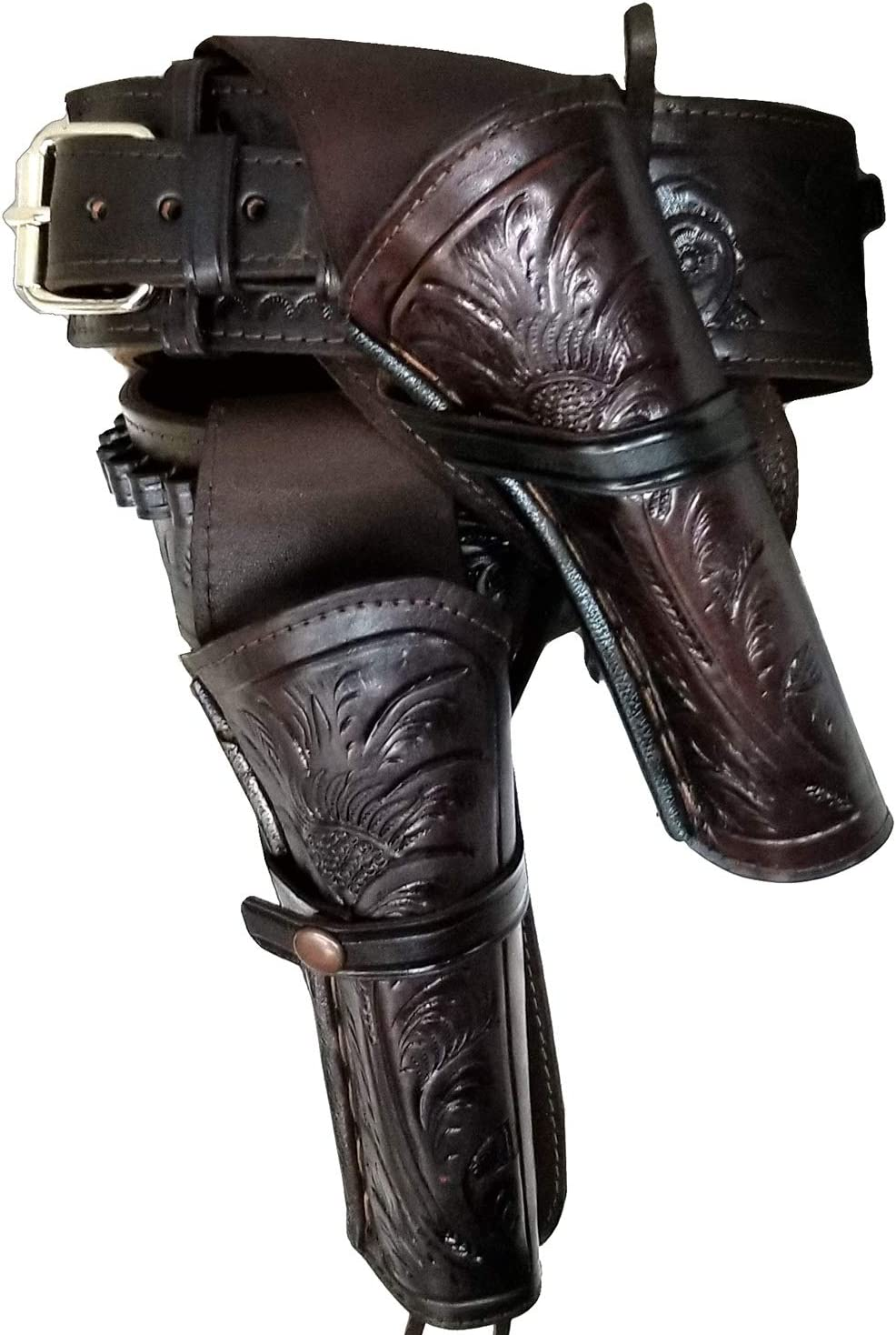 Modestone 44/45 High Ride RIGHT Cross Draw Double Holster Gun カウボーイベルト Rig Leather