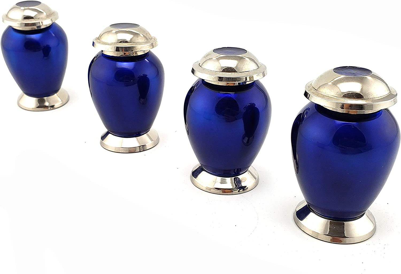 Cremation Keepsake Urns for Ashes Funeral Keepsake Urns Set of Four 4 edenStar Small Keepsake Urns for Human Ashes Vases Mini Keepsake Urns Unique Design Handmade