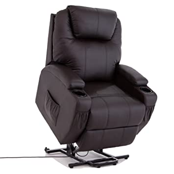 Power Lift Real Leather Recliner Chair Wall Hugger Lounge Seat Brown  sc 1 st  Amazon.com & Amazon.com: Power Lift Real Leather Recliner Chair Wall Hugger ... islam-shia.org