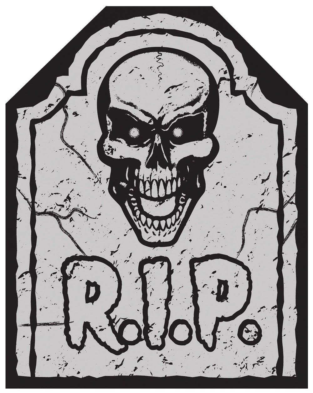 Graveyard Skull Tomb Chair Cover by Forum Novelties (Image #2)