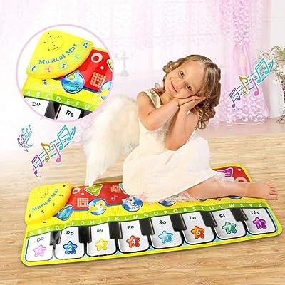 ZMH Alfombra de música de Piano para niños, Teclado de música de Piano para niños, Teclado de música, Juguete Educativo Divertido (70 * 27 cm): Deportes y aire libre