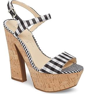 203d82220f34 Jessica Simpson Womens Divella Leather High Heel Platform Sandals