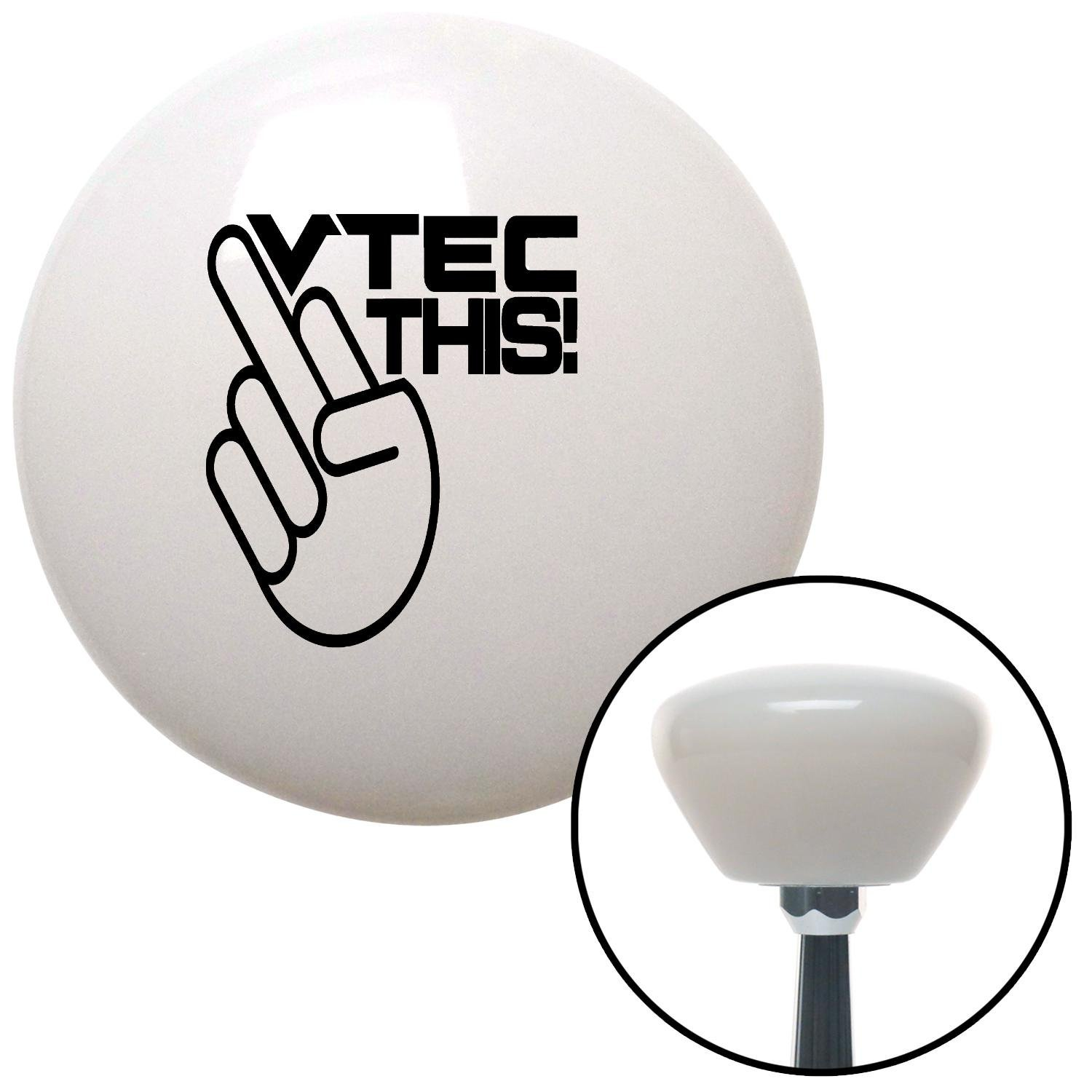 Black VTEC This! American Shifter 154141 White Retro Shift Knob with M16 x 1.5 Insert