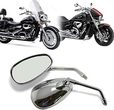 Motorcycle Chrome Rear View Mirrors For Kawasaki Honda Suzuki Cruisers