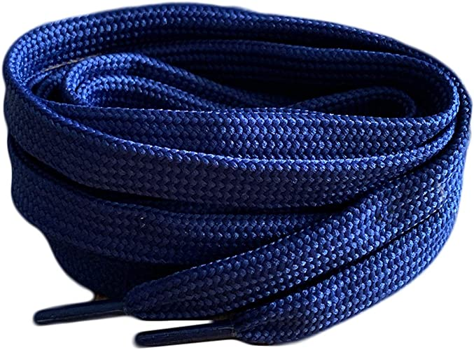 """120cm / 47"""" Navy Coloured Smart Laces® Flat Trainer Shoe laces ideal replacement laces for Adult and Kids Trainers, Shoes, Boots Shoe Laces"""