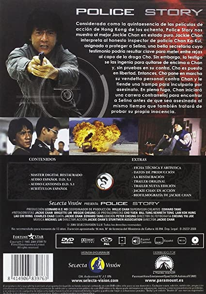 Police Story [DVD]: Amazon.es: JACKIE CHAN: Cine y Series TV