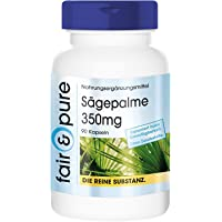 Serenoa repens 350mg (min. 0,014% beta-sitosterolo / 25% acidi grassi) - 90 capsule - vegano - per una prostata sana e una funzione della vescica normale