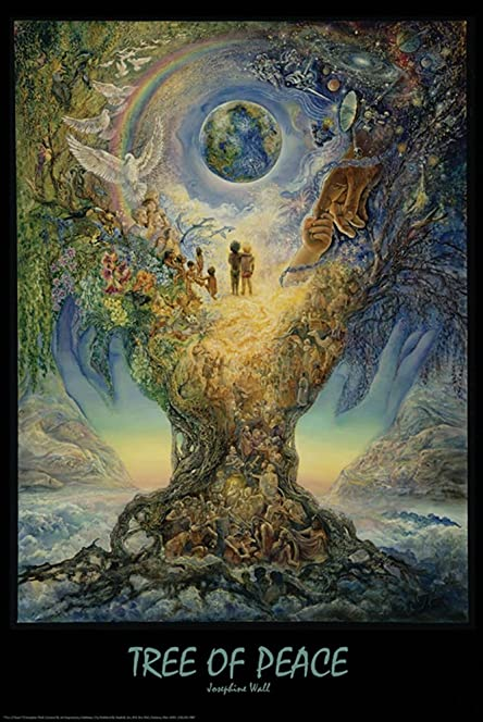 Tree of peace by josephine wall art print poster amazon tree of peace by josephine wall art print poster voltagebd