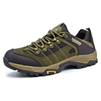 Knixmax Women's Waterproof Hiking Shoes Low Rise Walking Boots Lightweight Trekking Trainers Lace-up Outdoor Sport Sneakers