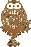 ヂャンティ商会 振り子時計 フクロウ ブラウン G-1179B