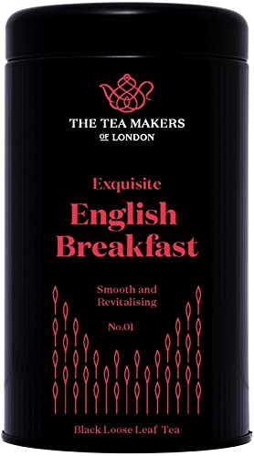 The Tea Makers of London English Breakfast Whole Leaf Loose Tea 125 g Caddy