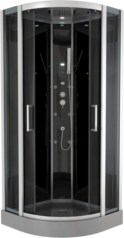 aurlane cab058 de cabina de ducha negro: Amazon.es: Bricolaje y ...