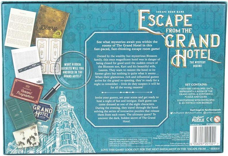 Amazon Com Professor Puzzle Escape From The Grand Hotel Escape Room Game Multiplayer Brain Teasing Game Escape The Room Game Toys Games