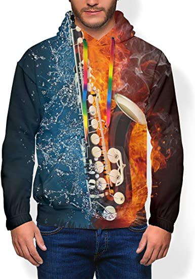 Adult Mens Daily Drawstring Pullover Long Sleeves Hooded Plus Velvet Gift