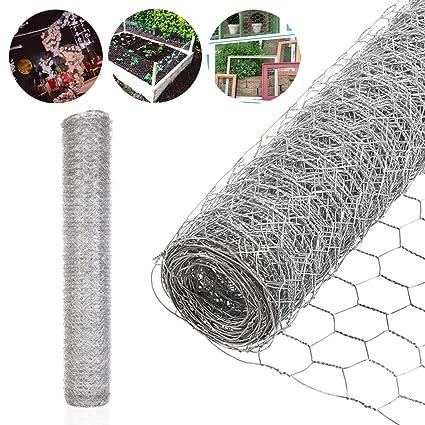 Hexagonal Mesh Galvanised Chicken Wire Netting Garden Landscaping Fence Aviary