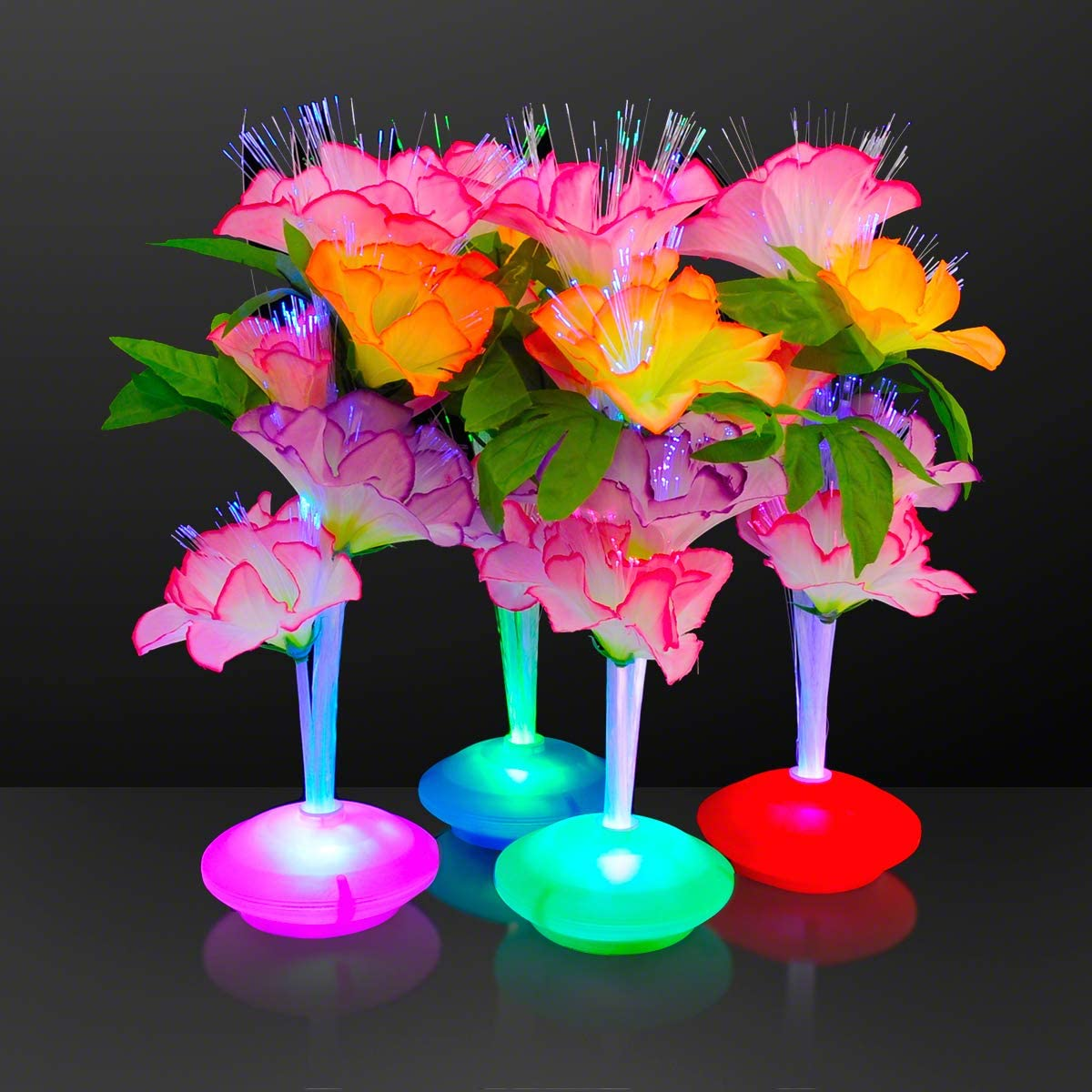 Fiber Optic LED Flower Centerpieces (Set of 12)