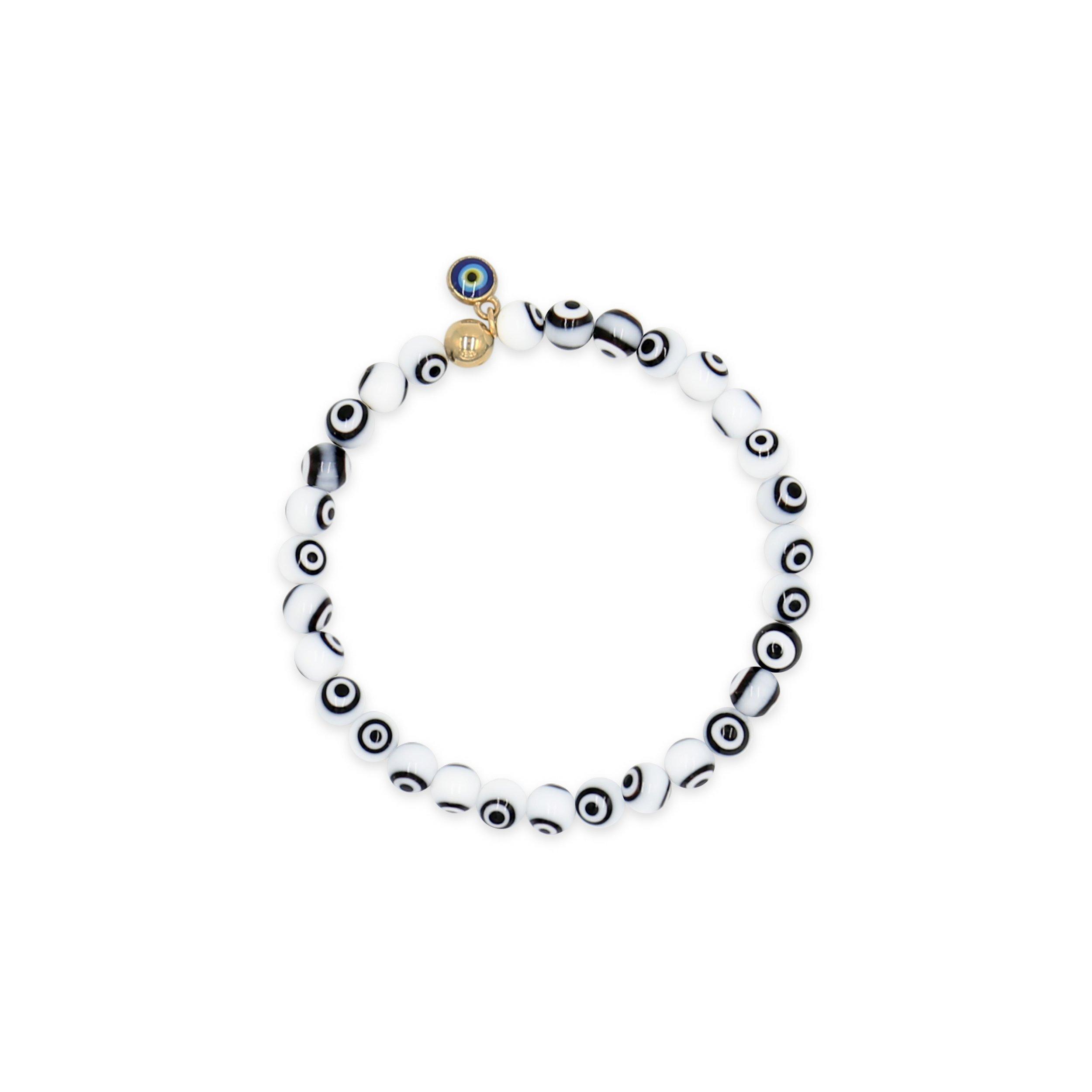 April Soderstrom Nazar Bracelet White 6mm