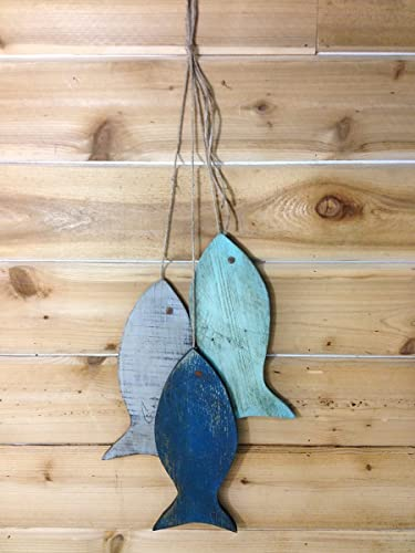Amazon.com: Lake House Decor, Fishing Decorations for Home, Painted ...