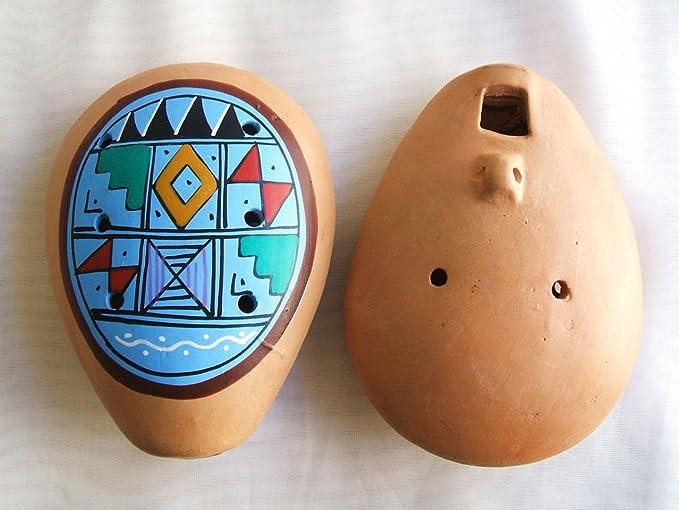 Dos Siam color azul Ocarina peruana. Instrumento Musical. geométrico: Amazon.es: Instrumentos musicales