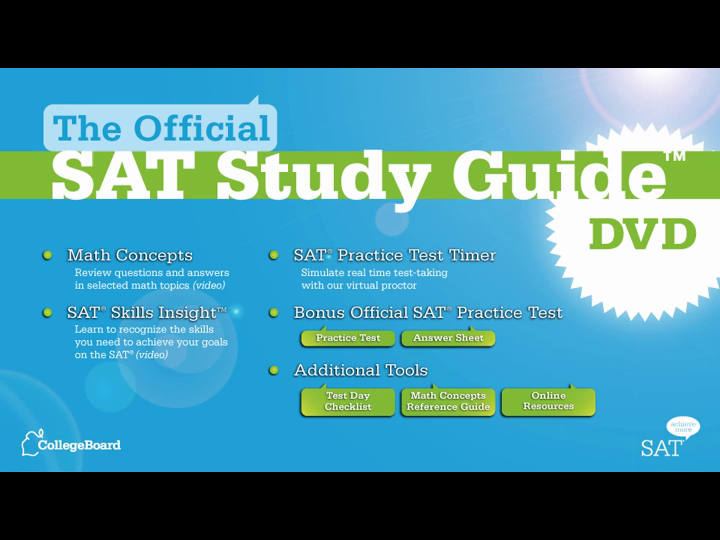 The official sat study guide with dvd the college board related media fandeluxe Choice Image